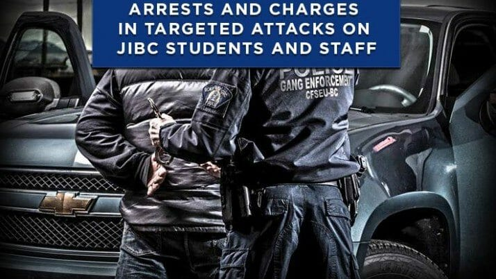 Arrests and Charges in Targeted Attacks on JIBC Students and Staff