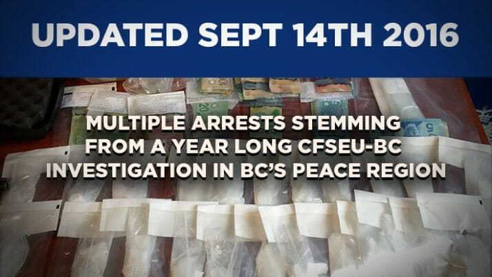 Update: 32 More Individuals Charged with 91 Offences in Year-Long CFSEU-BC Investigation in BC's Peace Region