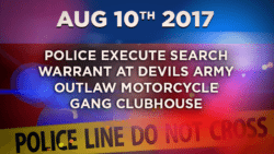 Police Execute Search Warrant at Devils Army Outlaw Motorcycle Gang Clubhouse in Connection to 2016 Homicide