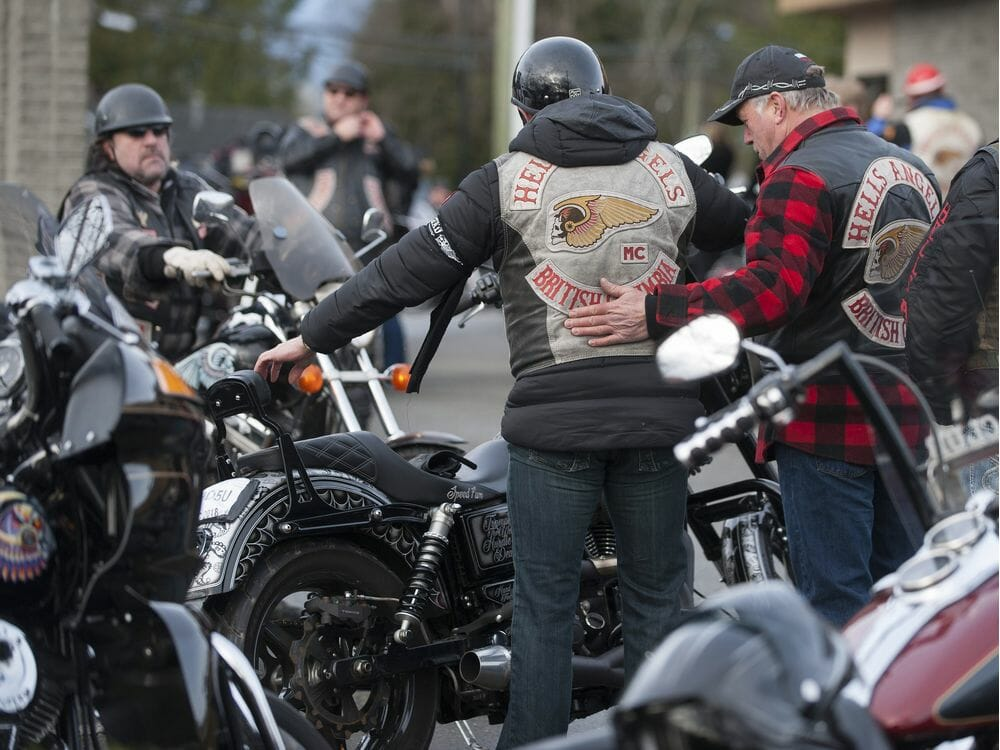 Bikers come from near and far for funeral of murdered B C  Hells